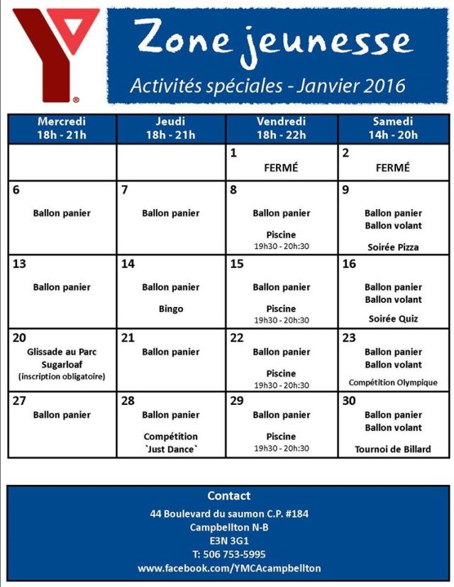 ymca janvier 2016